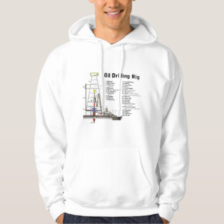 Diagram of an Oil Drilling Rig Tower Hoodie