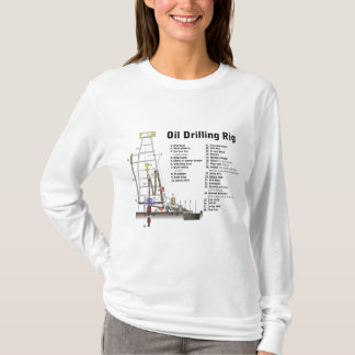 Diagram of an Oil Drilling Rig Tower T-Shirt