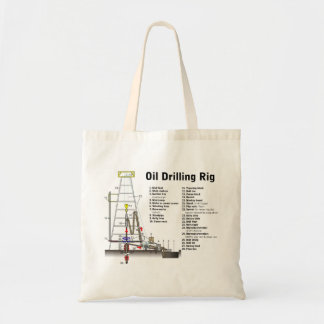 Diagram of an Oil Drilling Rig Tower Tote Bag