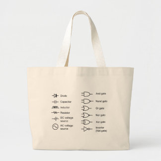 Diagram of Common Electrical Circuit Elements Tote Bag