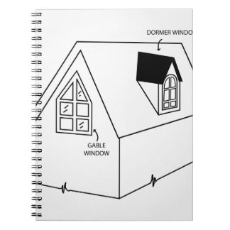 Diagram of dormer and gable window note books