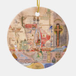 Diagram of the Apocalypse by Henry Dunant Christmas Tree Ornament