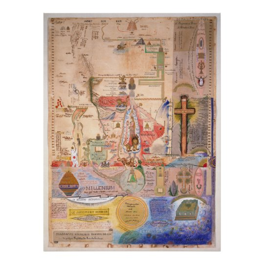 Diagram of the Apocalypse by Henry Dunant Poster
