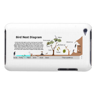 Diagram of Various Bird Nests iPod Touch Case-Mate Case