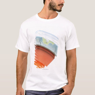 Diagram showing layers of the earth, close-up. T-Shirt