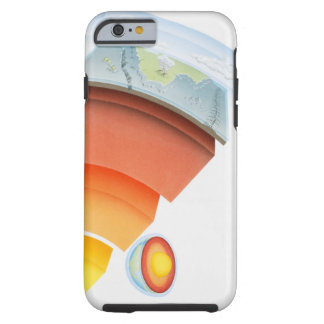 Diagram showing layers of the earth, close-up. tough iPhone 6 case