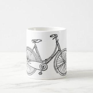 Diagrama americano de la bicicleta del vintage taza básica blanca