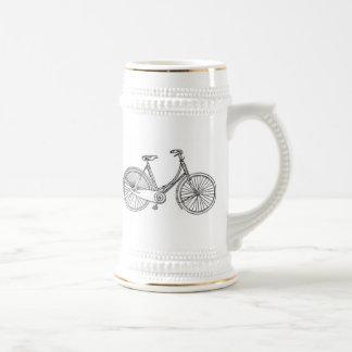 Diagrama americano de la bicicleta del vintage jarra de cerveza