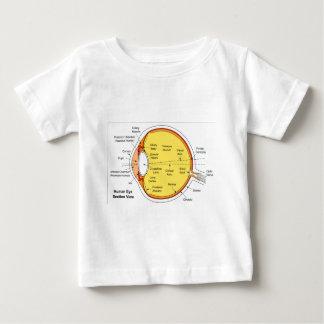Diagrama anatómico de la bola del ojo humano playera de bebé