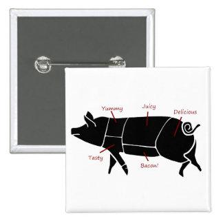 Diagrama de carta divertido del carnicero del cerd pin