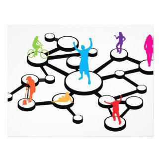 """Diagrama de conexiones social de los medios folleto 8.5"""" x 11"""""""