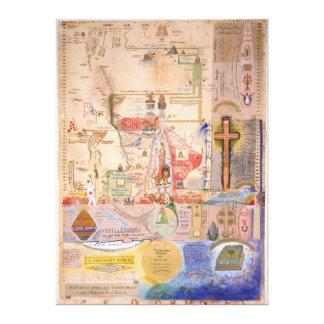 Diagrama de la apocalipsis de Henry Dunant Impresión De Lienzo
