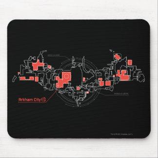 Diagrama de la ciudad de Arkham Alfombrillas De Ratones