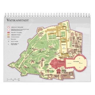 Diagrama de la Ciudad del Vaticano de Vatikanstadt Calendario