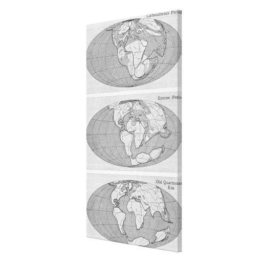 Diagrama de la tierra impresiones en lona