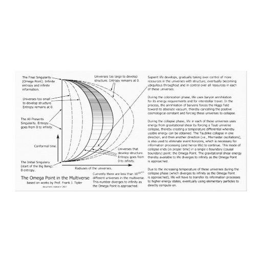 Diagrama de Multiverse del punto de Omega Impresion De Lienzo