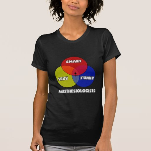 Diagrama de Venn. Anesthesiologists Camiseta