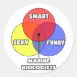 Diagrama de Venn. Biólogos marinos Etiquetas