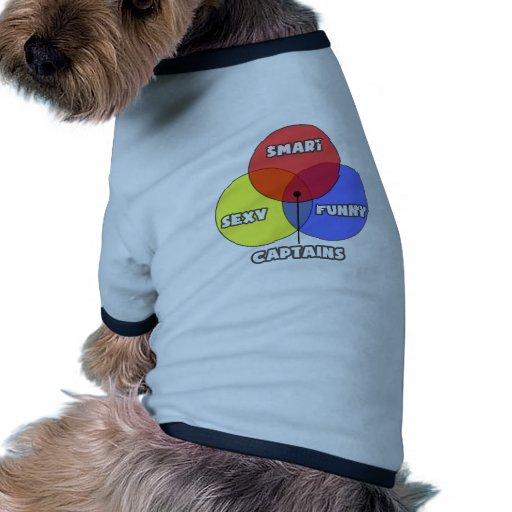 Diagrama de Venn. Capitanes Camiseta Con Mangas Para Perro
