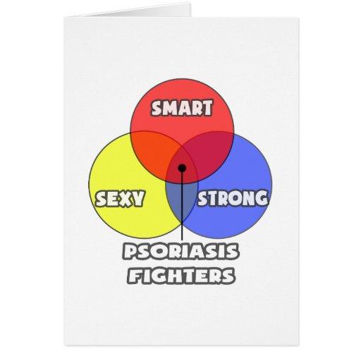 Diagrama de Venn. Combatientes del psoriasis Tarjeta