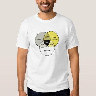 Diagrama de Venn: Empollón/friki/Dork/Dweeb Playera
