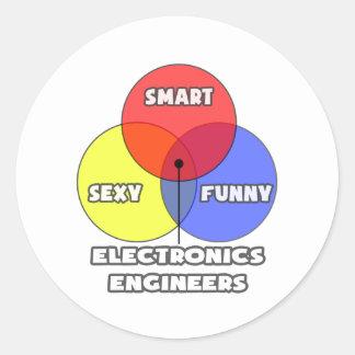 Diagrama de Venn Ingeniero electrónico Etiqueta Redonda