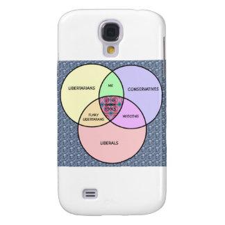 Diagrama de Venn, liberal, conservador, libertario Funda Para Galaxy S4
