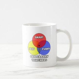 Diagrama de Venn. Profesores de la geografía Taza De Café