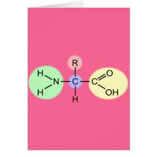 Diagrama del aminoácido tarjeta de felicitación