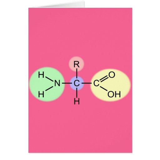 Diagrama del aminoácido tarjetas