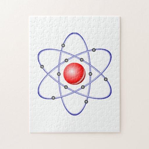 Diagrama del átomo de la ciencia puzzles
