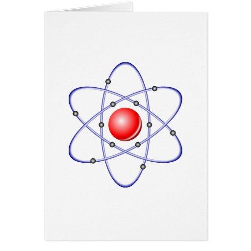 Diagrama del átomo de la ciencia tarjetas