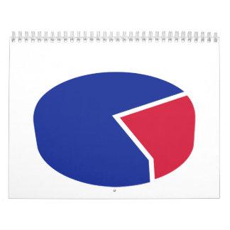 Diagrama del gráfico de sectores calendarios