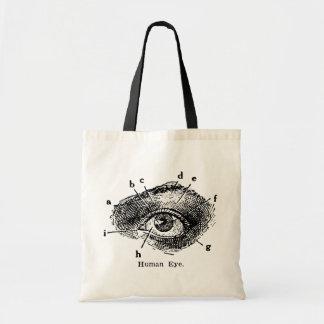 Diagrama del ojo humano del vintage bolsa tela barata