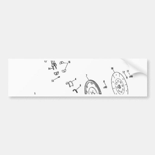 diagrama del pistón 454ci pegatina para auto