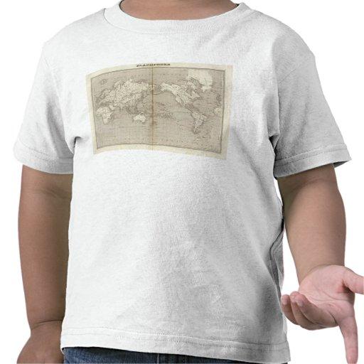 Diagrama del planisferio de la Sistema Solar Camiseta