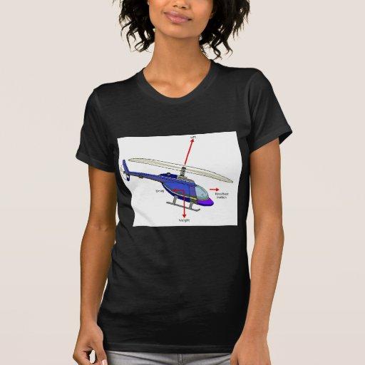 Diagrama del vuelo del helicóptero camiseta