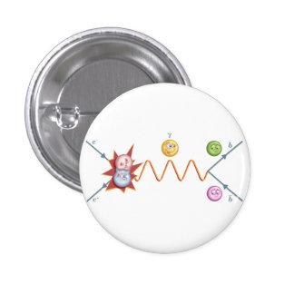 Diagrama divertido de Feynman Pin Redondo De 1 Pulgada