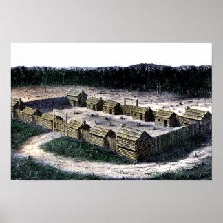 Diagrama histórico del fuerte de Boonesborough Ken Poster