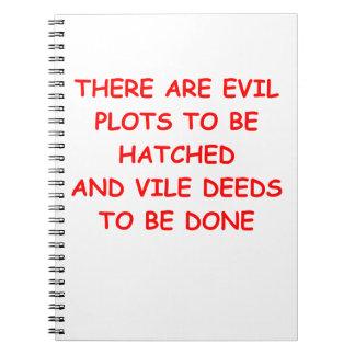 diagrama malvado cuadernos