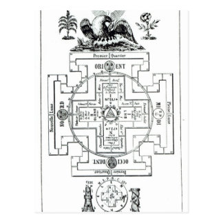 Diagrama místico de Solomon Tarjeta Postal