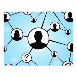 """Diagrama social de los amigos de los medios folleto 8.5"""" x 11"""""""