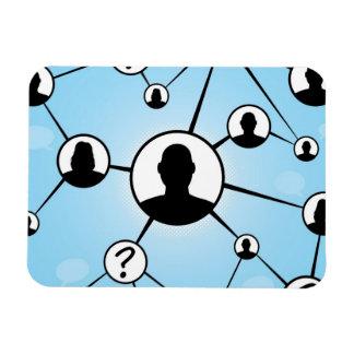 Diagrama social de los amigos de los medios imán flexible