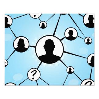 Diagrama social de los amigos de los medios fotografías