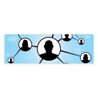 Diagrama social de los amigos de los medios tarjetas de visita