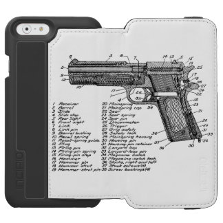 Diagrama V2 del arma Funda Billetera Para iPhone 6 Watson