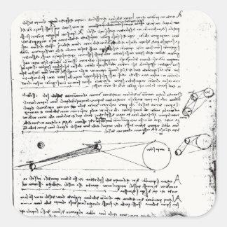Diagramas astronómicos pegatina cuadrada