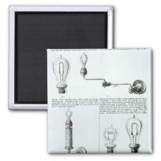 Diagramas de bombillas y de sus soportes imán cuadrado