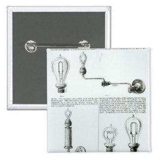 Diagramas de bombillas y de sus soportes pin cuadrado