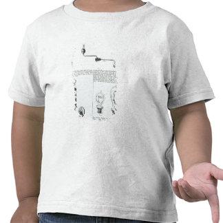 Diagramas de bombillas y de sus soportes camiseta